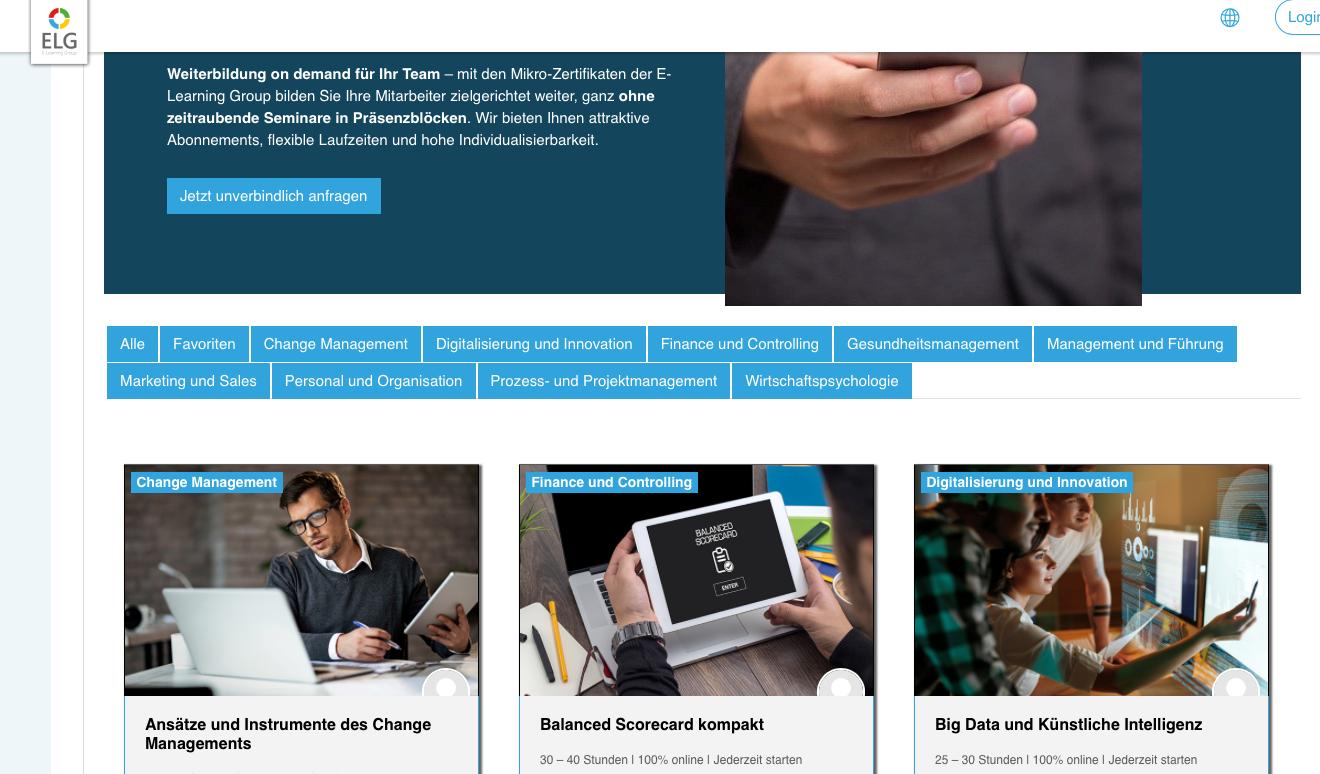 Moodle Plattform E-Learning-Group